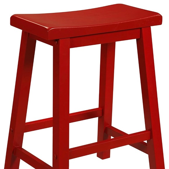 Powell Red 29 inch Barstools